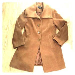 Jackets & Blazers - Wool Cashmere Blend Camel PeaCoat